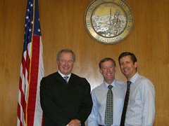 Tom and George with judge getting married