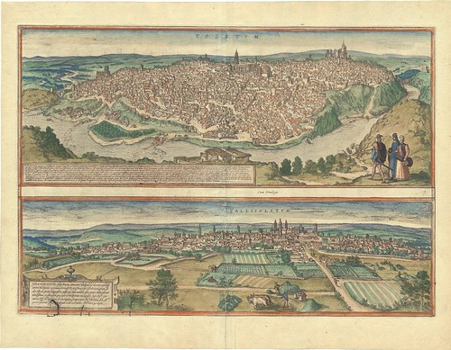 birdseye view maps of Toldeo and Valladolid