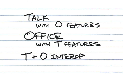 Talk interop by you.