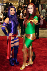 Psylocke and Phoenix (from X-Men) (Zebe) Tags: phoenix sandiego cosplay explore xmen sdcc yayahan psylocke jeangrey explored rubyrocket comiccon2008 upcoming:event=320876