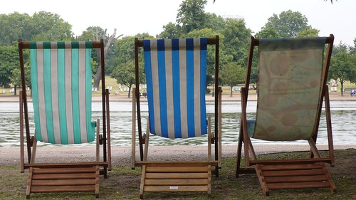 Deck chairs in Hyde Park