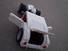 "Hot Rod ""White Hot"" (/>ylan/>.) Tags: white hot cars lego vehicles legos rod"