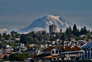 Mt. Rainier and Tacoma, WA