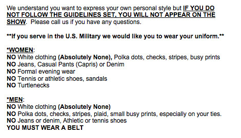 Just in case you were wondering about the dress code for Family Feud...
