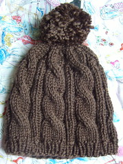 Chocolate Cable Hat