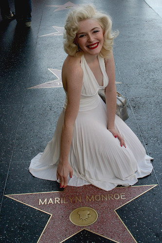 Marilyn Monroe Star Walk of Fame on Hollywood Boulevard