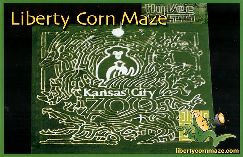 2008-09-28 - Liberty Corn Maze Map - Front
