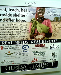Graffiti on African Relief Ad