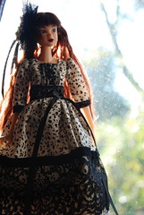 Ivie Adores Autumn Days (Girl Least Likely To) Tags: fashion toys japanese dolls vinyl etsy sekiguchi momoko ivie handmadedress asiandolls darkcherry lepetitboutique