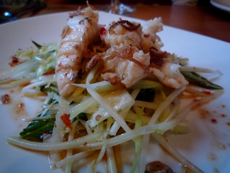 Moreton Bay Bugs with green papaya salad