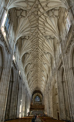 Cathedral: Nave (Dmitry Shakin) Tags: uk england church cathedral nave vault winchester vaulting