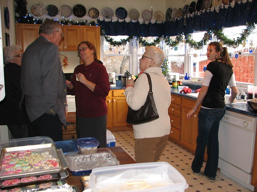 kitchen helpers and guests