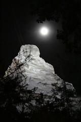 Matterhorn by Moonlight (CLAIREissa) Tags: california park vacation moon mountain fun losangeles disneyland moonlight matterhorn themepark firsttime attraction