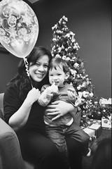 Navarik kids' Christmas - Yvette and Josh (Derek K. Miller) Tags: christmas xmas blackandwhite bw tree film vancouver kodak christmastree christmasparty xmastree xmasparty bw400cn navarik