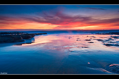 Wet Sand (andrewwdavies) Tags: longexposure sunset sea sky beach water clouds geotagged evening rocks tripod cliffs filters hitech circularpolariser canonefs1022mmf3545usm llantwitmajor nashpoint neutraldensity ndgrad llanilltudfawr graduatedfilter glamorganheritagecoast canoneos40d mistywater andrewwilliamdavies 09xnd geo:lat=51403108 geo:lon=356214