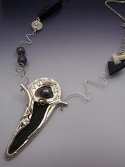 Bloom necklace - back- @2005 (LAnge Est L) Tags: handmade stones jewelry bijou sterling pmc blackpearl polymer necklance metalclay ptedargent angelabcrispin patedargent angelabaduelcrispin langeestlajewelryandclasses wwwlangeestlacom wwwangelacrispincom coursdefabricationdebijoux