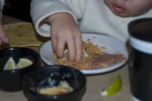 Benji stole Mommy's limes