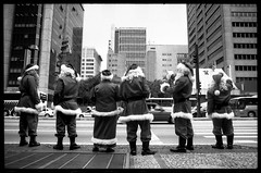 Merry Christmas everybody!!! (Rene Collin) Tags: santa christmas street bw white black brasil photography navidad bresil rene noel claus paulo collin sao flickrsbest renecollin