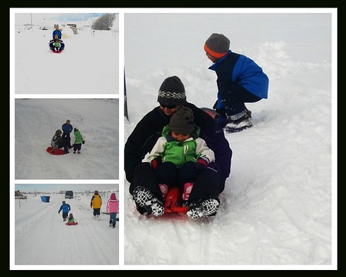 Sledding on Christmas