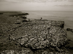 faraway dark horizons (badjonni) Tags: bw cliff dark landscape rocks horizon maslinbeach