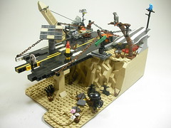 Civilization's End (Crimson Wolf) Tags: road desert lego obelisk apocalego