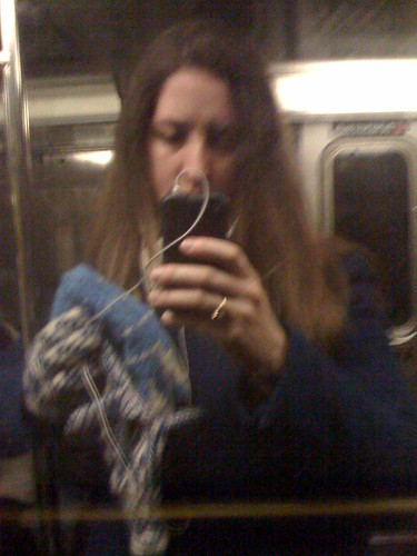 Riding the NYC subway reflection - sp 365.02