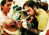 Scott - getting tattood ....by a beardy