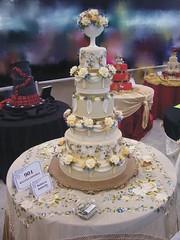 Oklahoma Sugar Art show, 2006 (RebeccaSutterby) Tags: wedding roses cake carnations orangeblossoms gumpasteflowers ossas spanishtheme amazingweddingcake overthetopcake