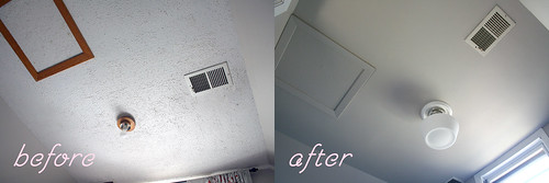 Popcorn Ceiling, Before and After