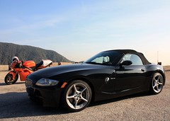 sunset (kennymuz) Tags: sunset sky reflection automobile bmw z4 ducati kennymuz