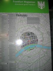 Frankfurt, harta turistică
