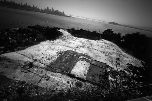prisoners yard, alcatraz