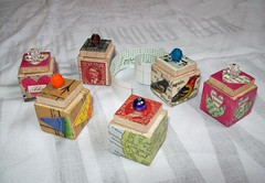 Teeny Tiny Boxes! (HA! Designs - Artbyheather) Tags: game collage fun message box funky tiny scrabble bead piece teeny hadesigns artbyheather