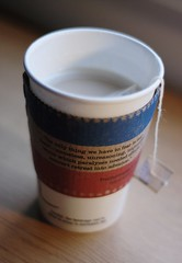 Inauguration Day (sunny_sixteen) Tags: brown tea quote political patriotic starbucks disgusting latte redwhiteandblue seriously fdr londonfog getthevanillarooibosinstead dontorderit ortheapplechai