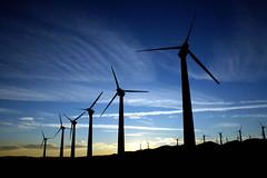 Wind Power (aero nerd) Tags: california mountains canon energy wind farm 17 55 turbine blades sihloette xti