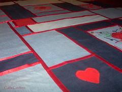 WIP - customizao com jeans (Carla Cordeiro) Tags: jeans denim patchwork reciclagem  reciclar colcha sustentabilidade reaproveitamento upcycling customizao fitasdecetim denimquilts