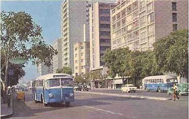 Buses in central Lima