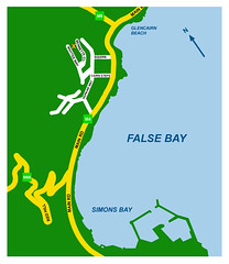 Map to Simonstown Guest House