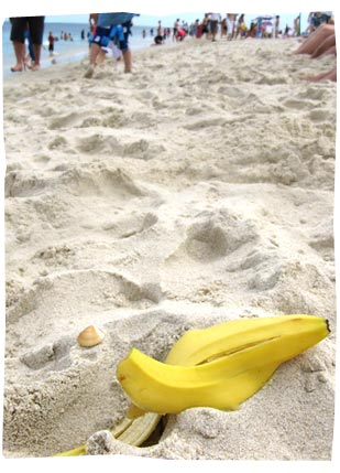 Banana Peel on Cottesloe Beach