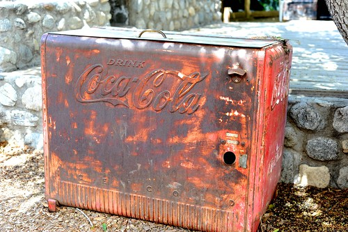 Vintage Coca Cola Cooler at Zoomars