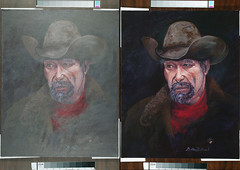 Without & with Polarized lighting - painting © Golden Millward