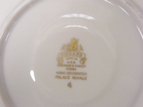 Detail - Manufacturing information, Presidential China