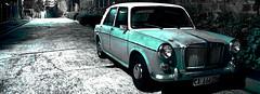 revisited (rugga_creos) Tags: road street old blue car night long exposure shot mg