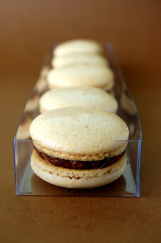 Peanut Banana Chocolate Macarons