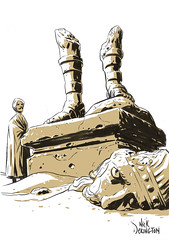 Ozymandias (Nick Derington) Tags: statue king nick sketchbook shelley percy bysshe ozymandius derington