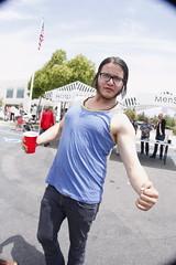 Adam is sexy? (liiittles) Tags: nerd muscles tanktop buff cooldude sexyman partyguy