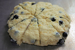 Blueberry Breakfast Scones ready to bake