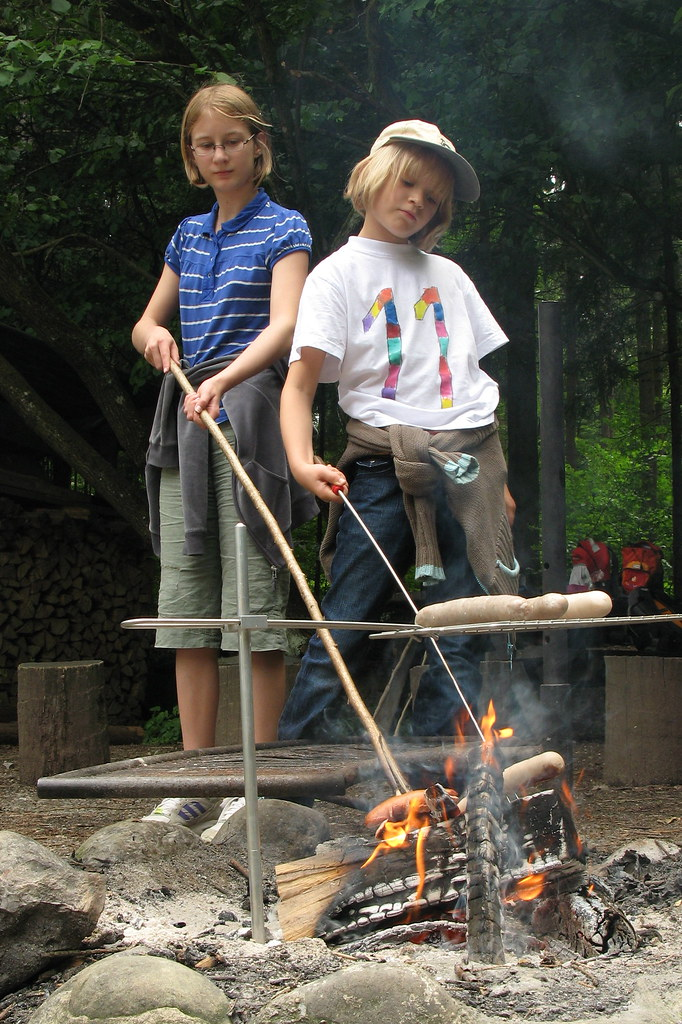 Grilling in the woods