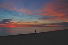One Day... (Scott Thomas Photography) Tags: travel sunset summer sky people lake beach nature water colors clouds nikon quiet d70 dusk greatlakes upstatenewyork serene lonely lakeontario spiritual contemplate vr 18200mm scottwdw scottthomasphotography