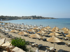 Coral Bay, Paphos, Cyprus (ynysforgan_jack) Tags: pictures ocean sea vacation sun holiday hot beach water photo sand nikon holidays image photos picture cyprus images coolpix 2008 vacations coralbay kato paphos sunbed pafos zypern sunbeds digitalcameraclub ktima p5100